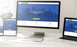 phone with fresh and modern responsive design website